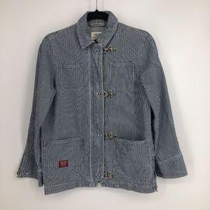 Ralph Lauren Denim Railroad Stripe toggle Jacket